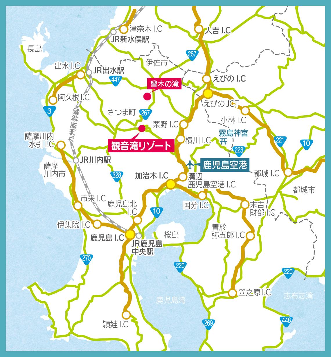 観音滝リゾート地図